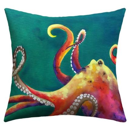 Deny Designs Clara Nilles Mardi Gras Octopus Outdoor Throw