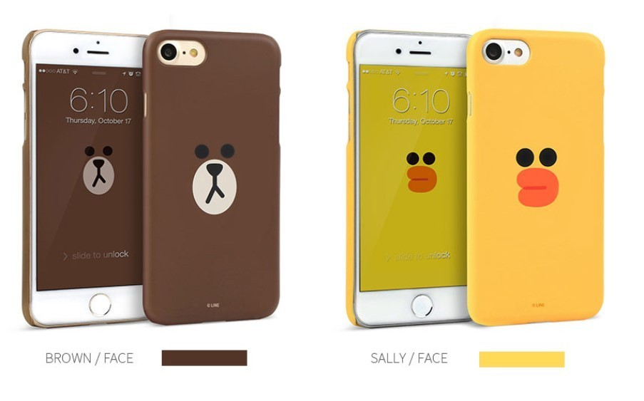 DESIGN SKIN IPHONE 7 LINE FRIENDS GRAPHIC FACE CASE