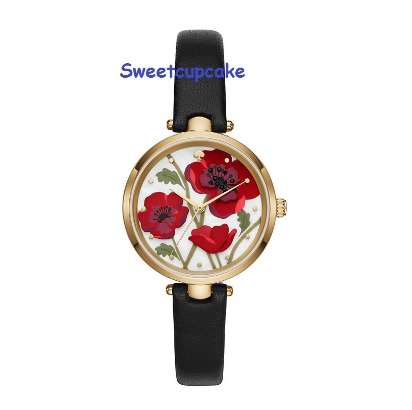 Kate Spade Holland Poppy Watch ポピー 赤 腕時計