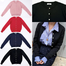 IMVELY(イムブリー) ニット・セーター Contrast Button Down Round Neck Cardigan