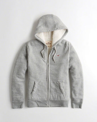Hollister Sherpa-Lined Full-Zip Icon Hoodie