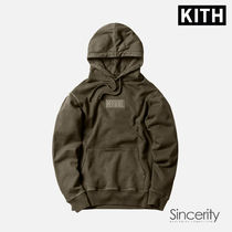 KITH CLASSIC LOGO HOODIE / OLIVE / XSMALL