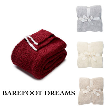 ♪Barefoot Dreams♪ソフトブランケットTrimmed Throw