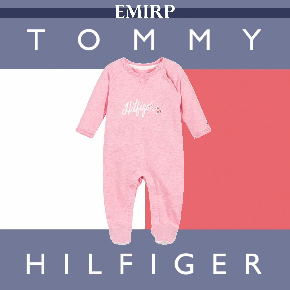 Tommy Hilfiger★ロゴロンパース★ピンク