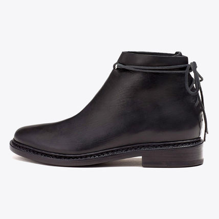 FEIT HAND SEWN WRAP BOOT / BLACK フェイト レザーブーツ