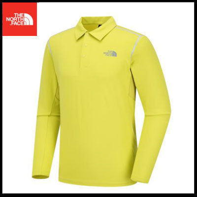 (ザノースフェイス) M'S HOLLAND L/S POLO LIME NT7QI53C