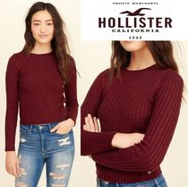 ★新作★送料込★Hollister★Slim Crop Crewneck Sweater★
