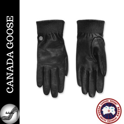 17AW 新作 極上の温かさ◆CANADA GOOSE◆Leather Rib Glove
