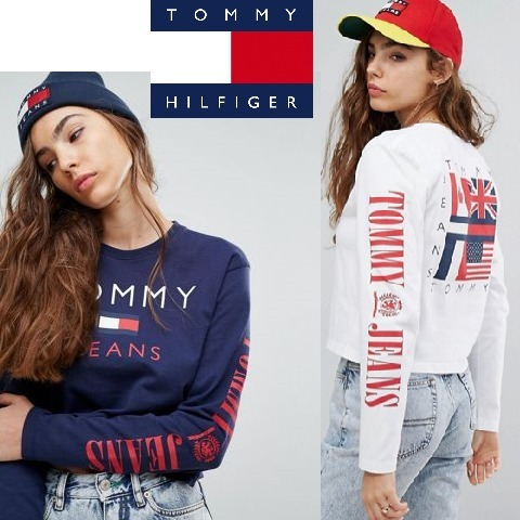 新作★Tommy Jeans 90s Capsule Top with Arm Logo 袖ロゴ 2色