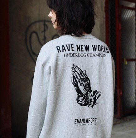 Evan Laforet★PRAYER PRINTED SWEATSHIRT 起毛トレーナー/追跡