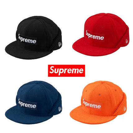Supreme キャップ Supreme Polartec Ear Flap New Era Cap Box Logo 送料込み 17AW