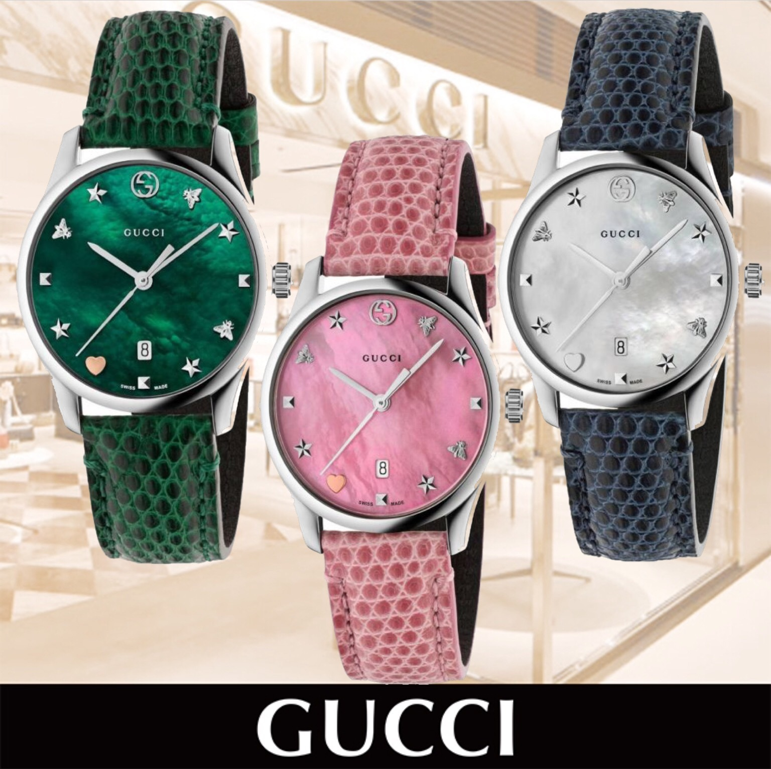 GUCCI G-timeless Watch Case 27mm With Mother of pearl Dial