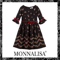 大人OK!! MONNALISA CHIC★Black Rose Budドレス 4-16Y★関税込