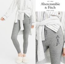 ★送料込★A&F★EMBROIDERED LOGO FLEECE LEGGINGS★