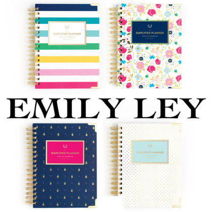 ◇EMILY LEY◇SIMPLIFIED PLANNER2018年版手帳(1〜12月)