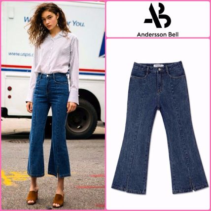 ANDERSSON BELL デニム・ジーパン 【ANDERSSON BELL】正規品★スリット ブーツカット JEANS/追跡付