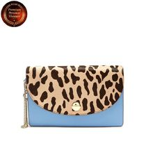 DVF-Saddle calf-hair and leather clutch