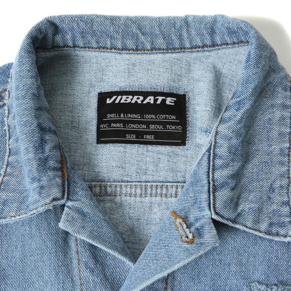 韓国の人気★VIBRATE★DAMAGED DENIM JACKET