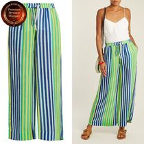 DVF-Striped linen-blend trousers