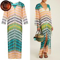 DVF-Striped silk maxi kaftan