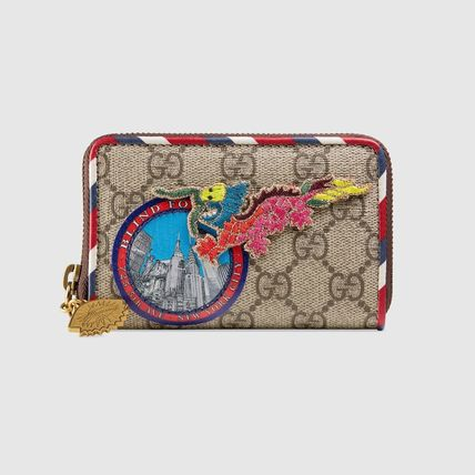 "GUCCI カードケース・名刺入れ 関税込""Gucci""Gucci Courrier GG Supreme メンズ カードケース"