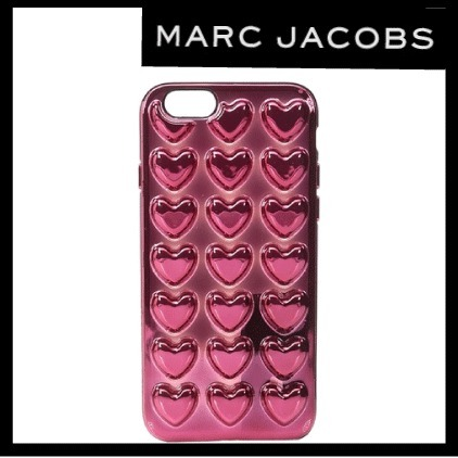 SALE【送関込】★MARC JACOBS★メタリックハートiPhone6/6S Case