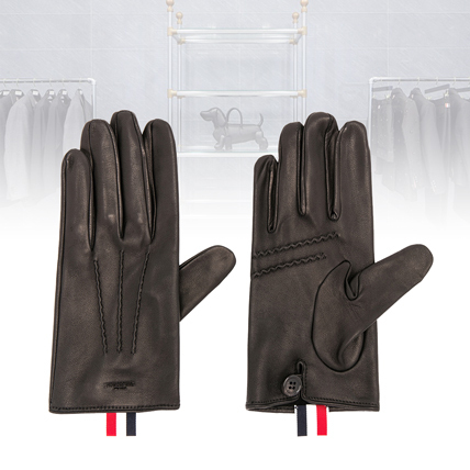 【関税送料込】17AW THOM BROWNE★Short Unlined Leather Gloves