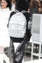 Runway2017★CHANEL★DOUDOUNE BACKPACK EMBOSSED NYLON silver