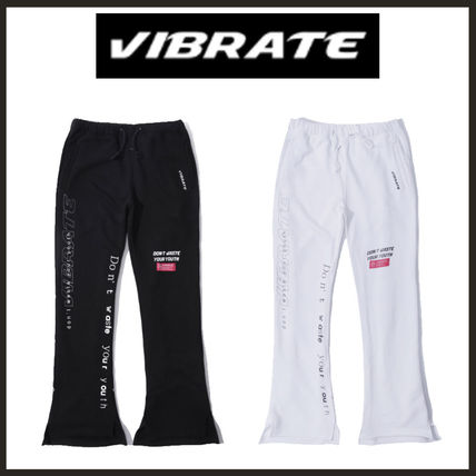 ★2017F/W★[VIBRATE] - THEME WORDS JERSEY PANTS*2color