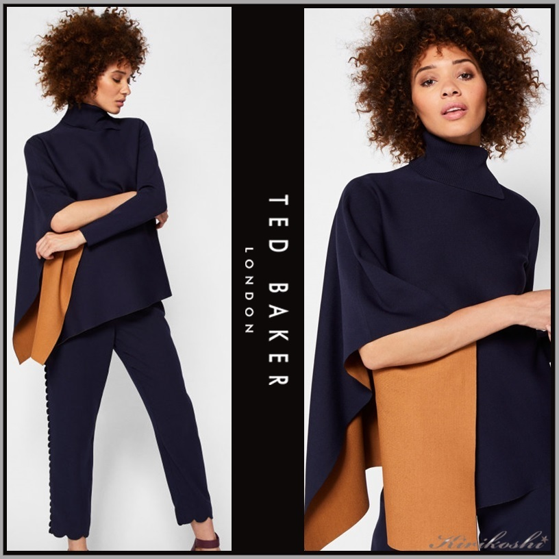 ◆TED BAKER 17最新◆BRYTE◆アシンメトリックニットケープ◆