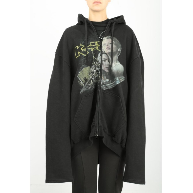 刺激的◆Metalhead Faces Print ジップパーカー◆VETEMENTS
