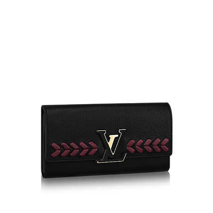 Louis Vuitton Capucines Wallet BLACK M62076 関税込