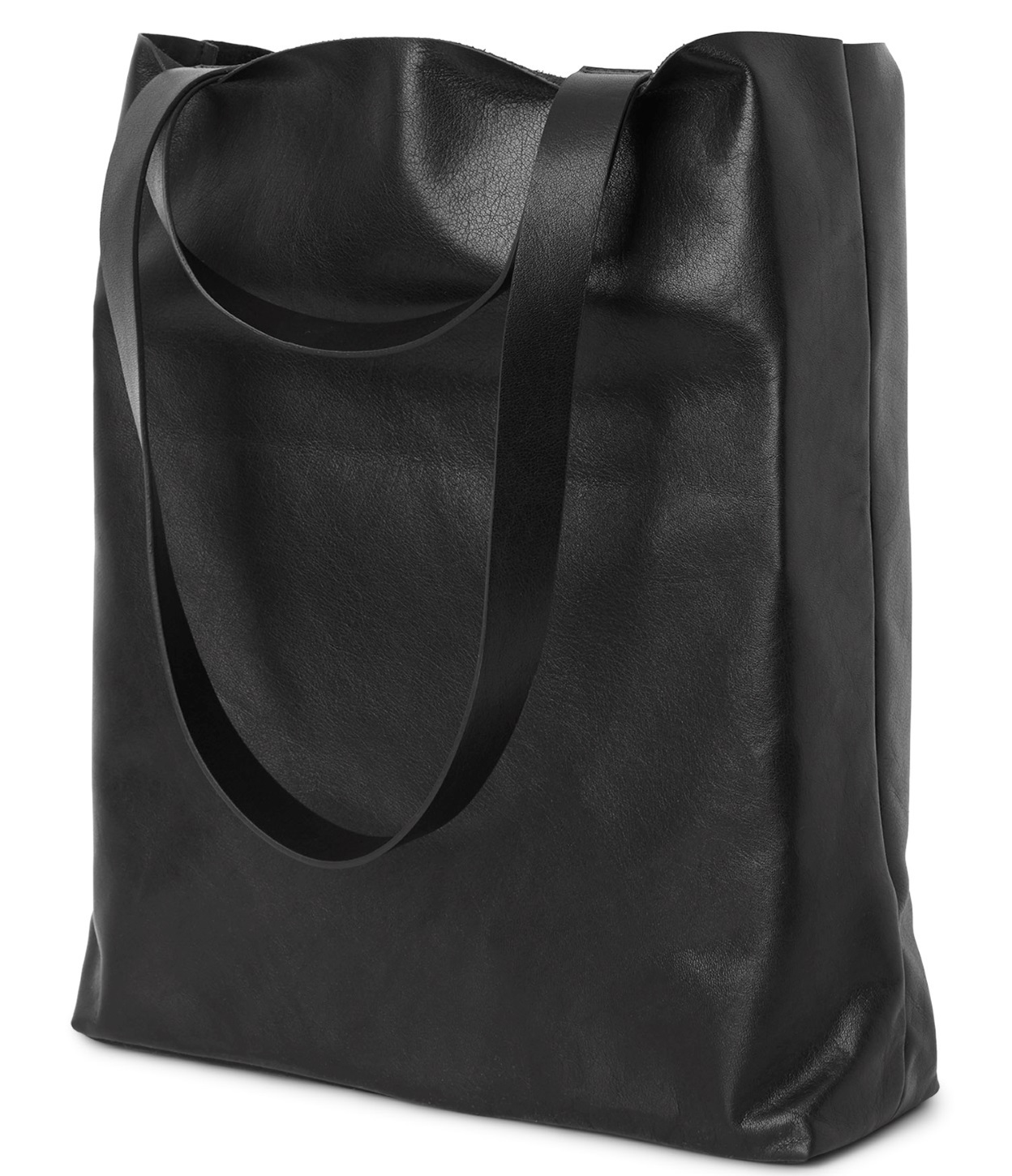 """WEEKDAY""Sweet Leather Tote Black"
