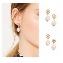 ☆Tory Burch☆CRYSTAL-PEARL DROP EARRING☆2色あり