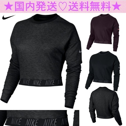 ★NIKE★クール!!Tapered Bottom L/Sクロップドシャツ★