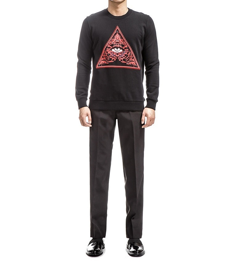 GIVENCHY 17AW Embroidered black cotton トレーナー
