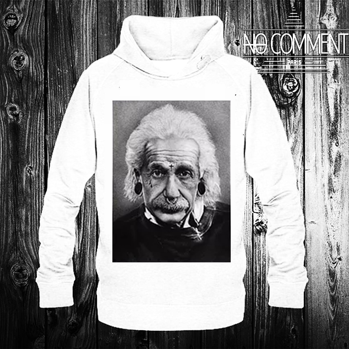 NO COMMENT Hoodies 【Einstein Piercing】
