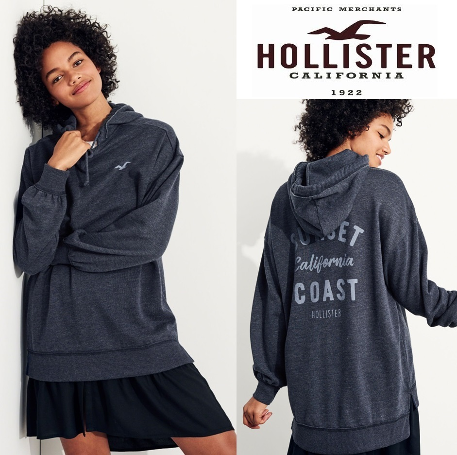 ★送料込★Hollister★Oversized Graphic Hoodie★