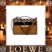 18SS新作◆LOEWE◆Barcelona Knit Bag Beige Multitone/Black