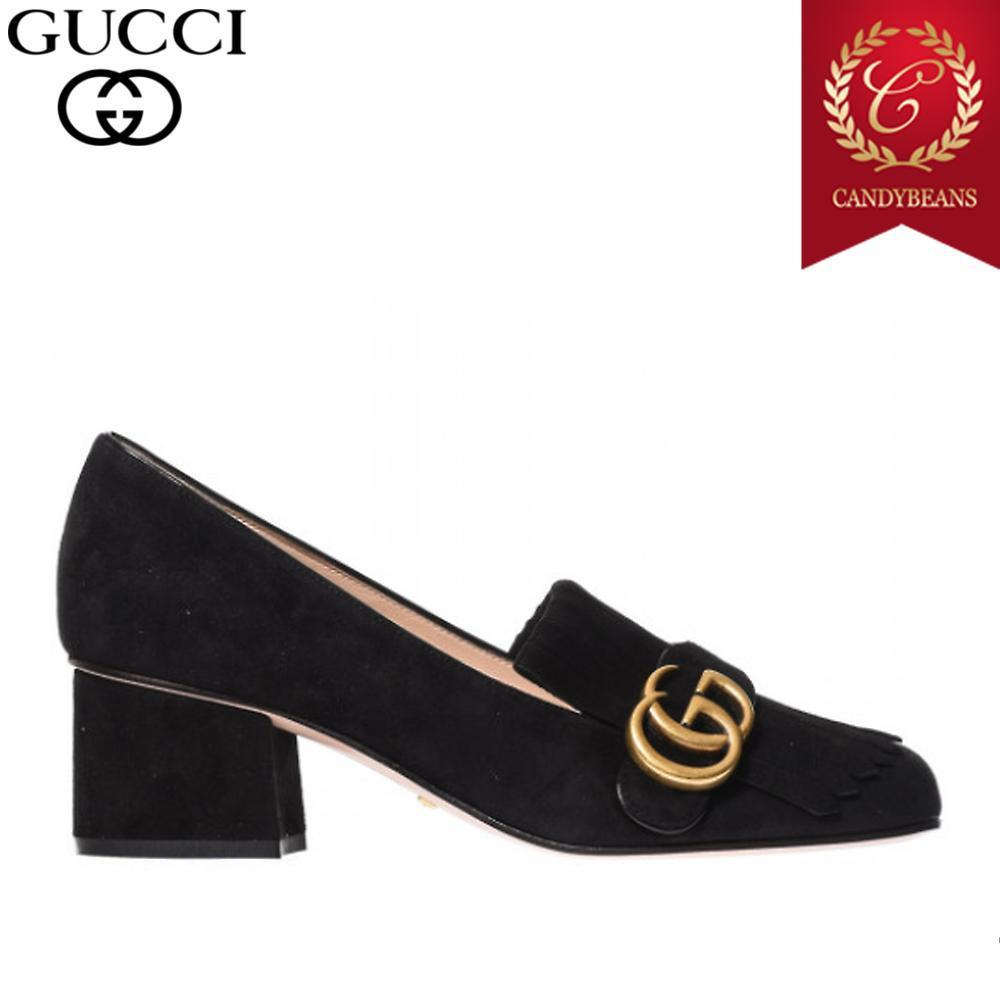 ◆17AW GUCCI グッチ Kid scamosciato スエード パンプス