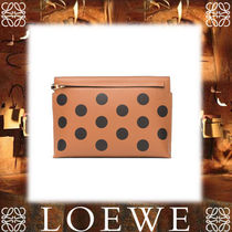 18SS新作◆LOEWE◆T Pouch Circles Bag Black/Tan/Chocolate