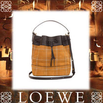 18SS新作◆LOEWE◆Midnight Stitched Bag Black/Caramel/Navy
