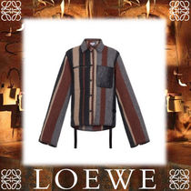 18SS新作◆LOEWE◆Button Jacket Stripes グレイ
