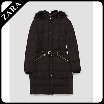 ★ZARA★ザラ  PUFFER COAT WITH BELT