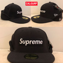 AW17 Supreme(シュプリーム)polartec Ear Flap NewEra/Blk/8