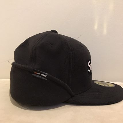 Supreme キャップ AW17 Supreme(シュプリーム)polartec Ear Flap NewEra/Blk/8(3)