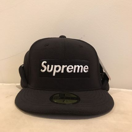 Supreme キャップ AW17 Supreme(シュプリーム)polartec Ear Flap NewEra/Blk/8(4)