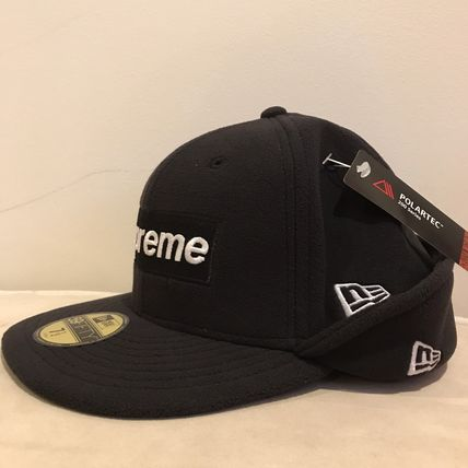 Supreme キャップ AW17 Supreme(シュプリーム)polartec Ear Flap NewEra/Blk/8(5)