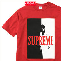 AW17 Supreme(シュプリーム)scarface split tee/RED/M-XL