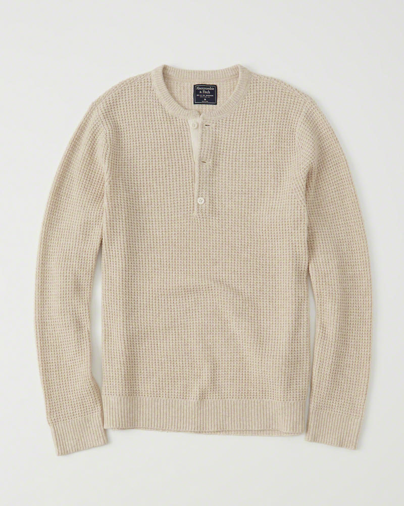 Abercrombie & Fitch Waffle Henley Sweater